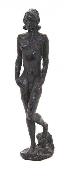 An American Bronze Figure, Height 11 1/2 Inches.