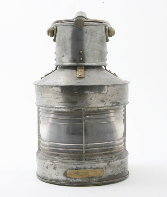 2094: An English Brass and Tin Ship's Lantern, Birmingh