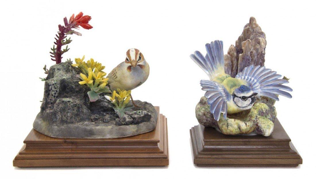 2106: Two Royal Worcester Dorothy Doughty Birds, Lark S