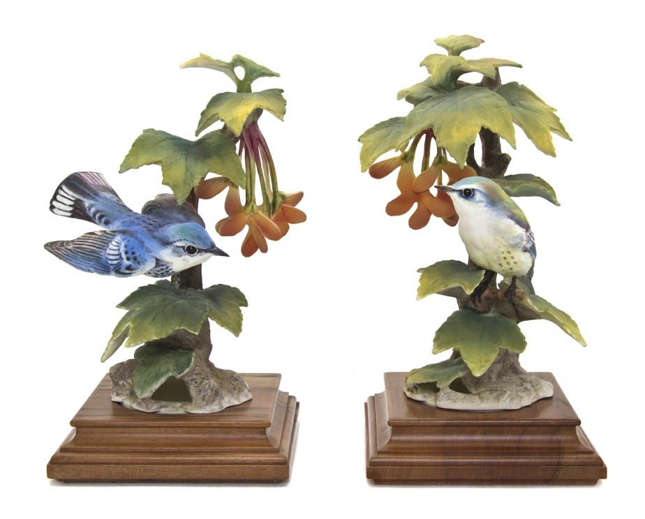 2107: A Pair of Royal Worcester Dorothy Doughty Birds,