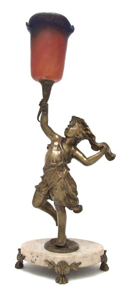 2112: A Gilt Bronze Figural Table Lamp, Height overall