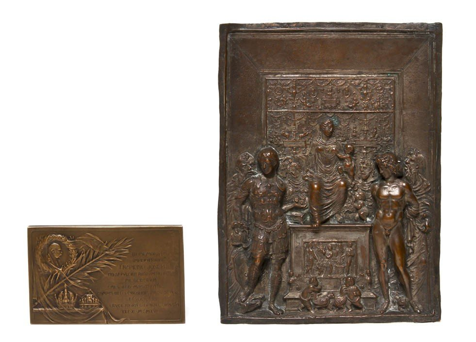 2119: A Continental Silvered Metal Relief Panel, Height