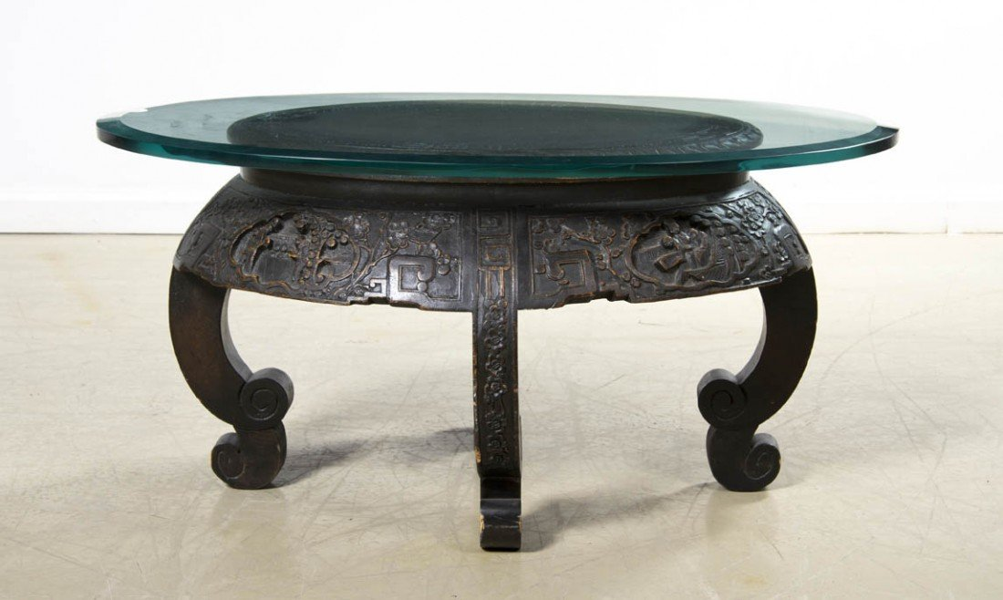 2426: A Chinese Hardwood Table, Height 16 x width 31 in