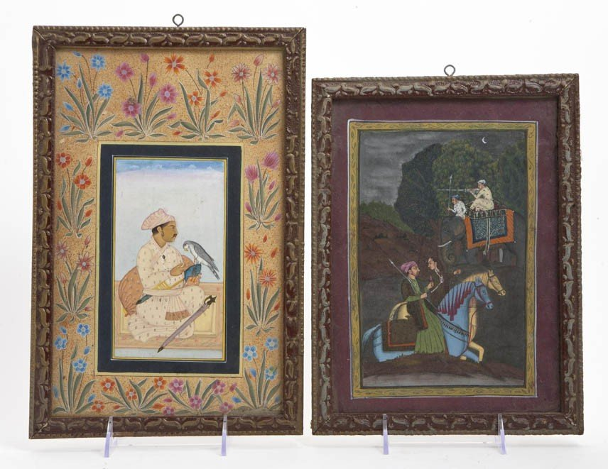 2438: A Group of Four Mughal Miniature Paintings, Heigh