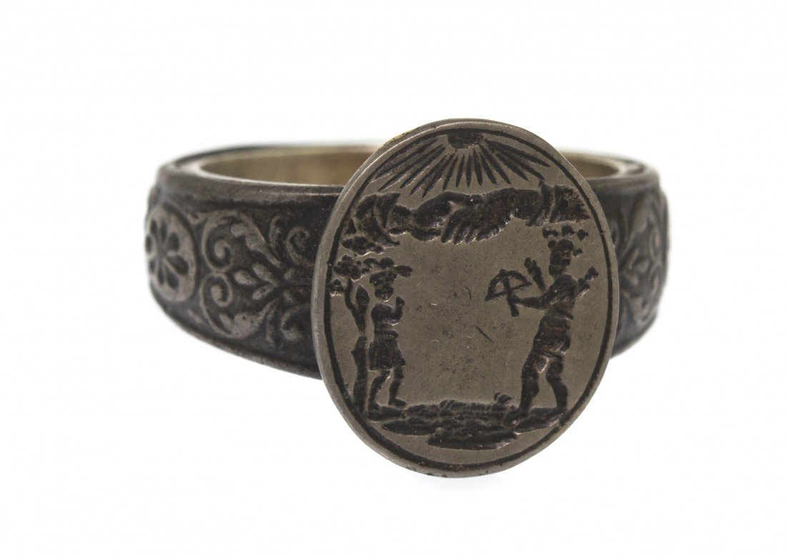 20: An Engraved Iron Ring Depicting William Tell, 17th