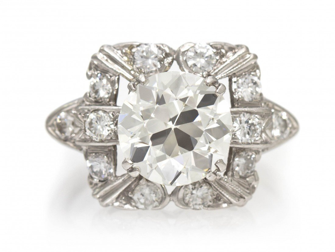 68: A Platinum and Diamond Ring, 3.80 dwts.