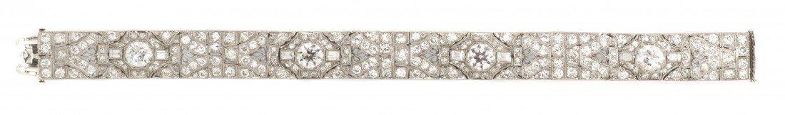 70: An Art Deco Platinum and Diamond Bracelet, Walton &