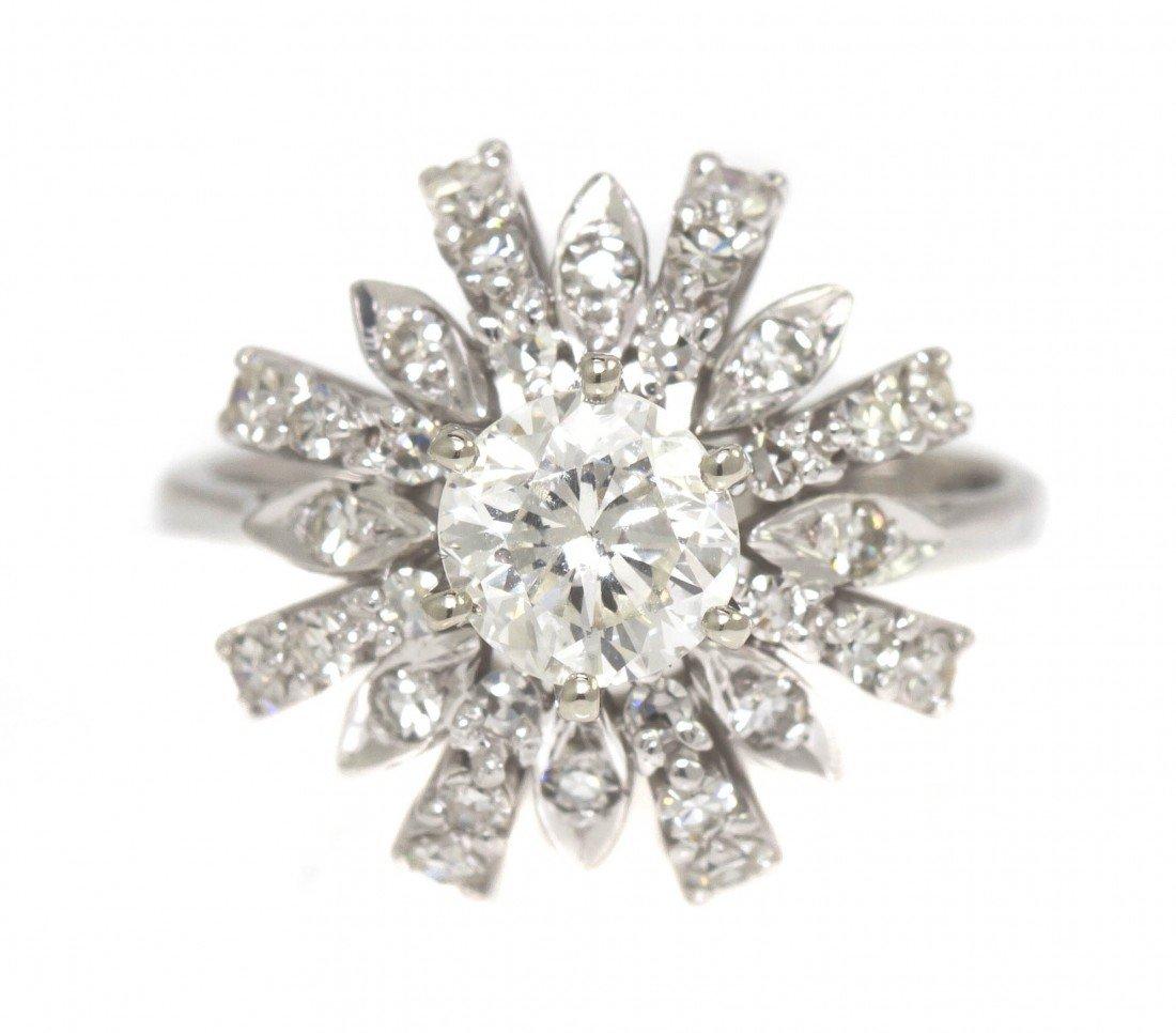 285: An 18 Karat White Gold and Diamond Ring, 2.70 dwts