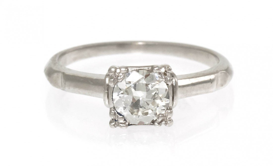 288: A Platinum and Diamond Solitaire Ring, 2.45 dwts.