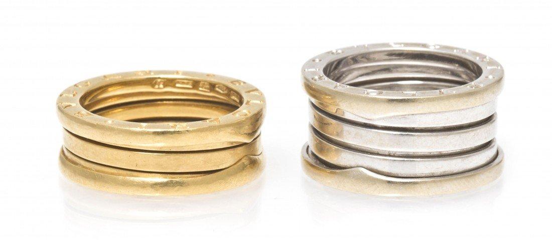 291: Two 18 Karat Gold Rings, Bulgari, 13.10 dwts.