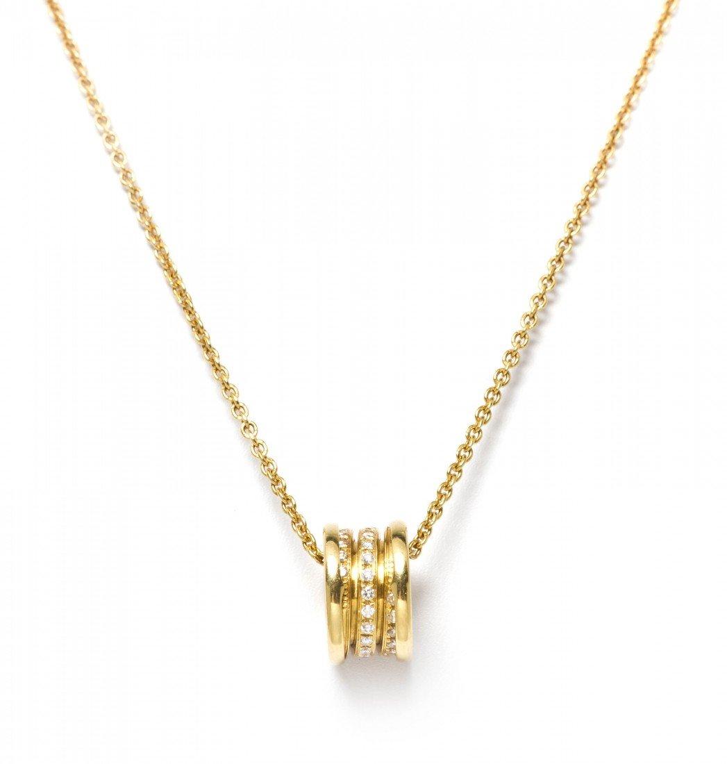 292: An 18 Karat Yellow Gold and Diamond B.ZERO1 Pendan