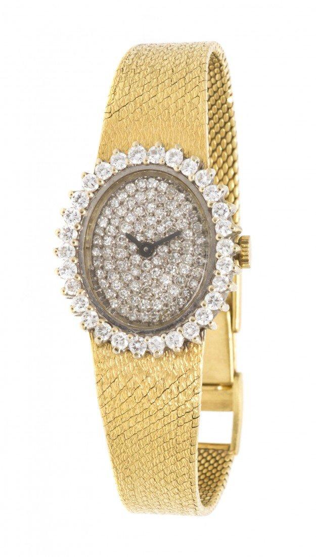 295: An 18 Karat Gold and Diamond Watch, Concord, 25.80