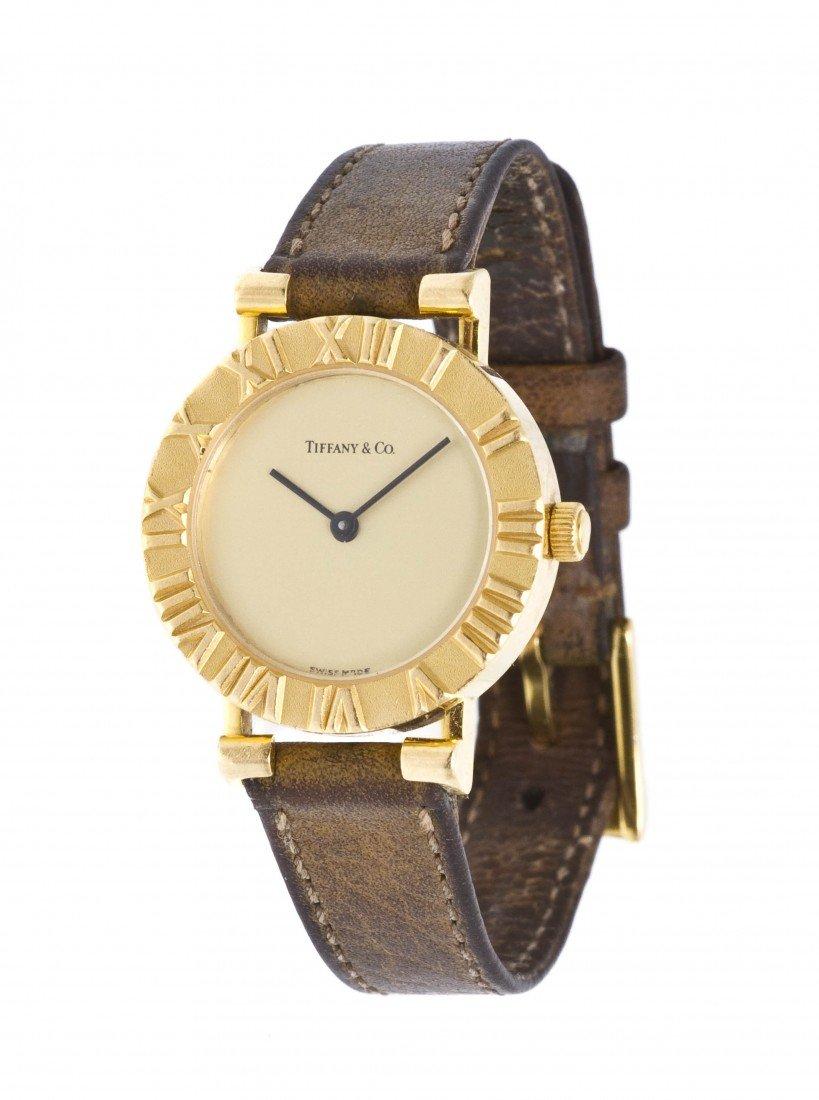 343: An 18 Karat Yellow Gold Atlas Wristwatch, Tiffany