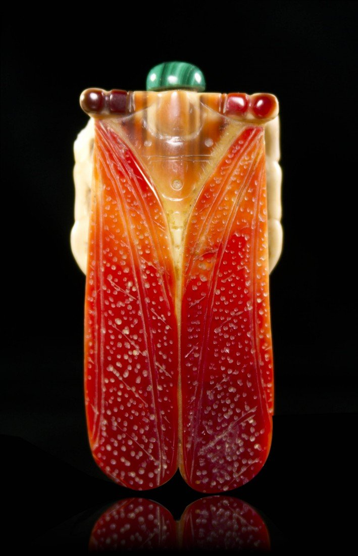 5: A Carved Hornbill Snuff Bottle, Length 2 1/2 inches.