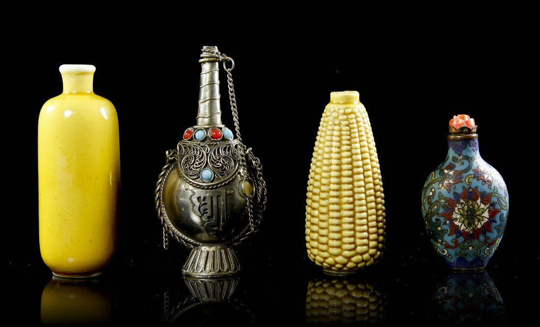 17: A Collection of Four Snuff Bottles, Height of talle