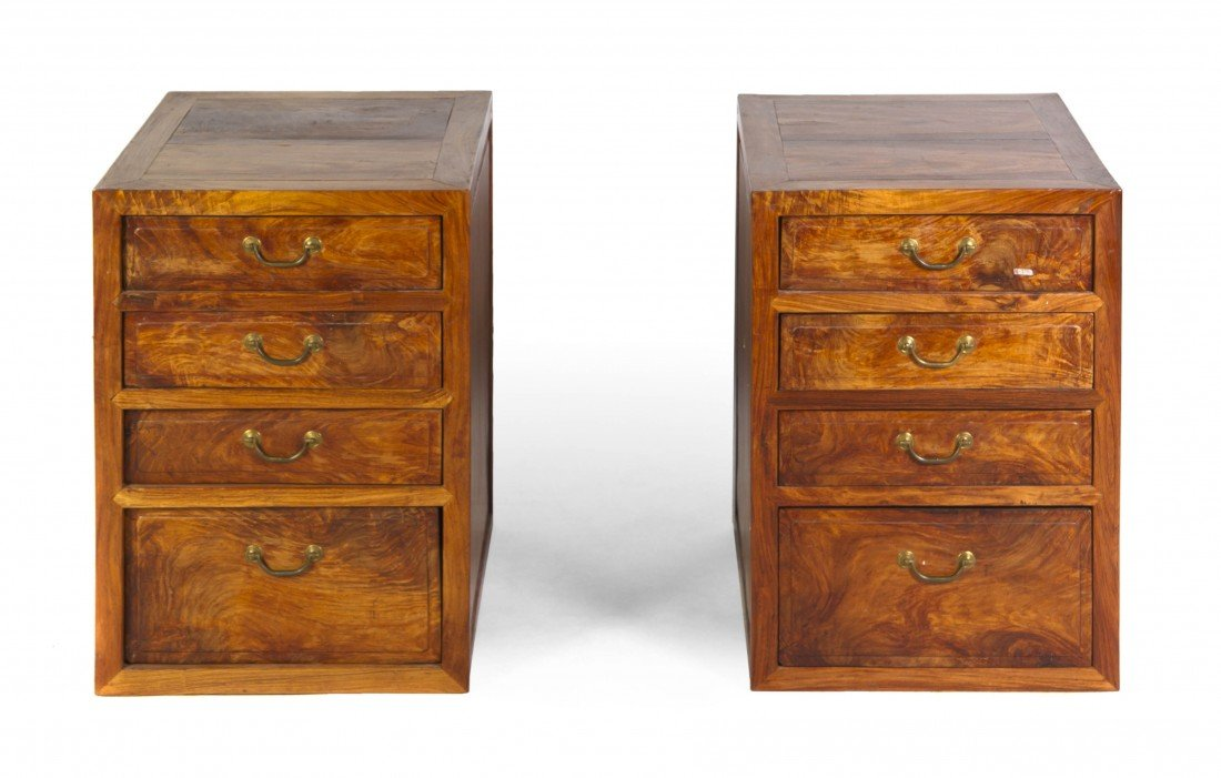 124: A Pair of Chinese Huanghuali Side Cabinets, Height