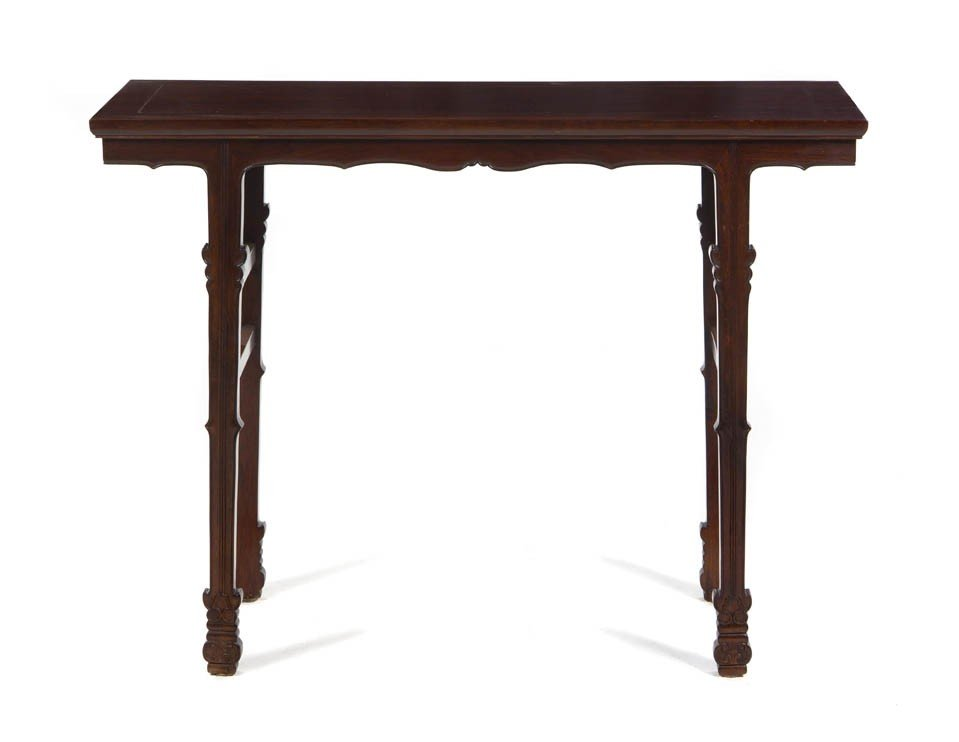 127: A Huanghuali Wine Table, Height 31 3/4 x width 41
