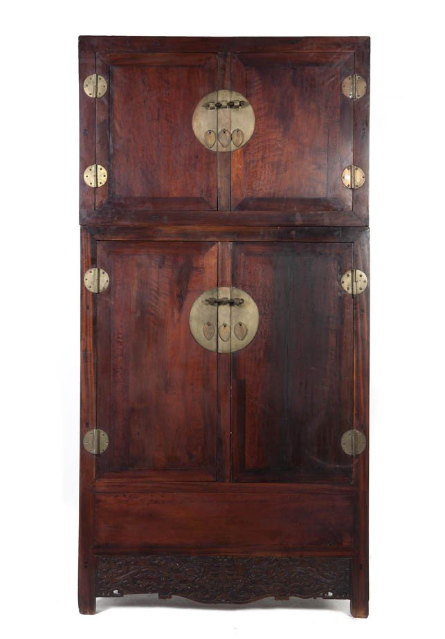 132: A Chinese Huanghuali Compound Cabinet, Height over