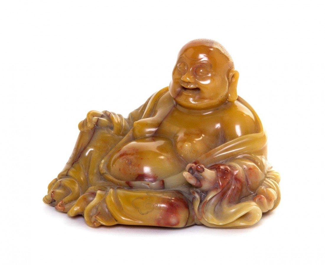 683: A Chinese Steatite Model of Buddha, Height 2 3/4 i