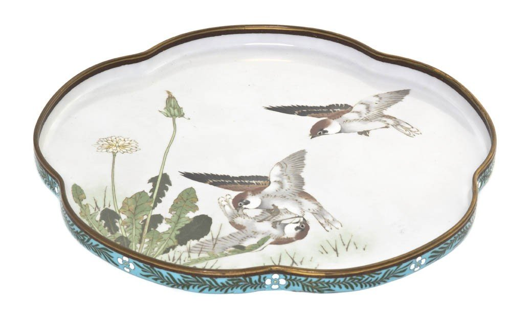 874: A Japanese Cloisonne Enamel Tray, attributed to Na