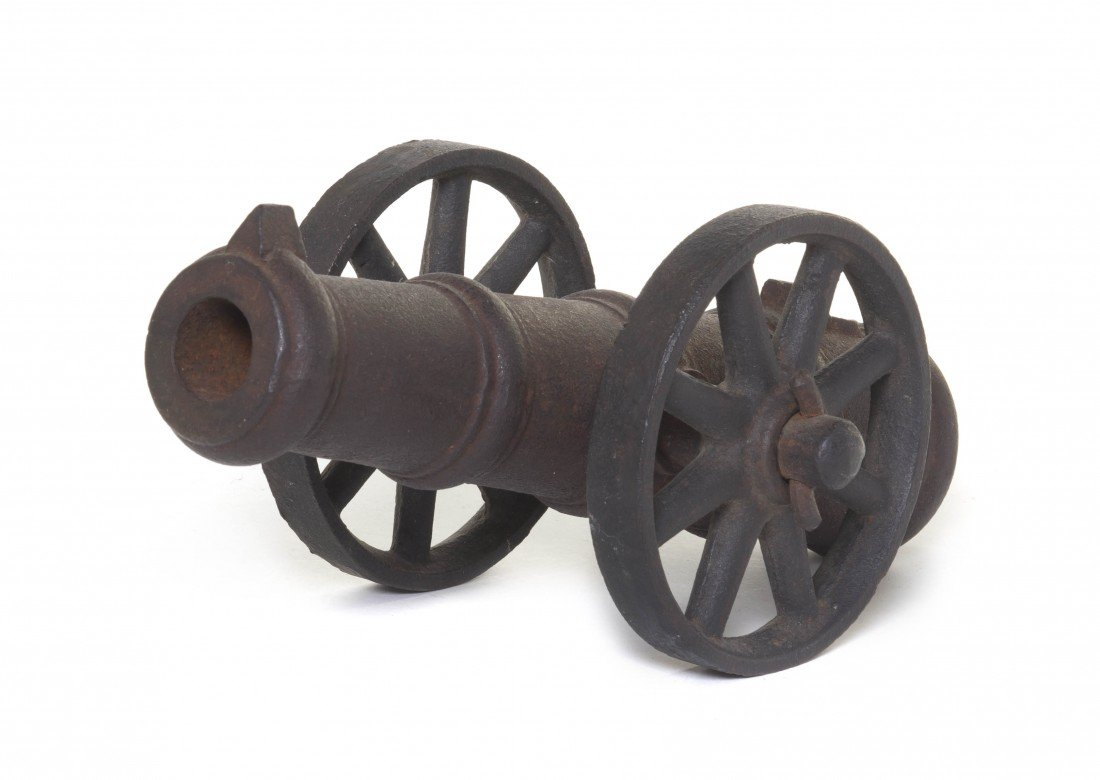 916: A Japanese Iron Signal Cannon, Length 10 1/2 inche