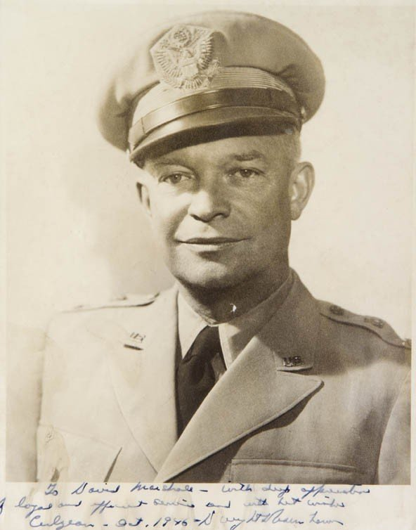 3: EISENHOWER, DWIGHT. Autograph note signed, in margin