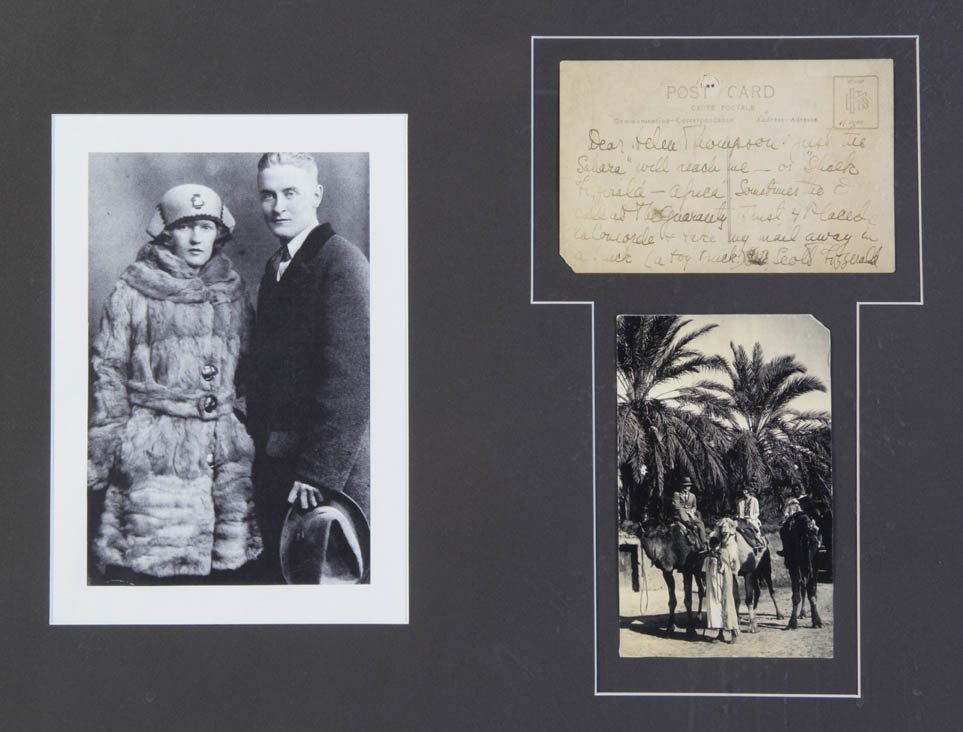5: FITZGERALD, F. SCOTT. Autographed postcard signed, [