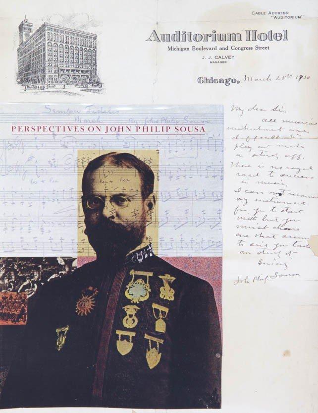 14: SOUSA, JOHN PHILIP. Autogarph letter signed, one pa