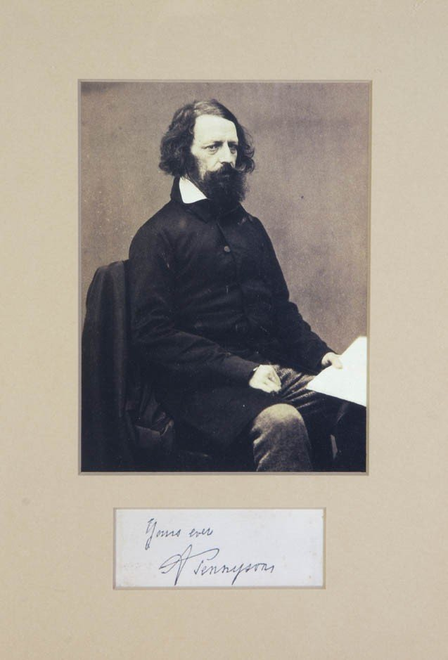 20A: TENNYSON, SIR ALFRED. Clipped signature, framed wi