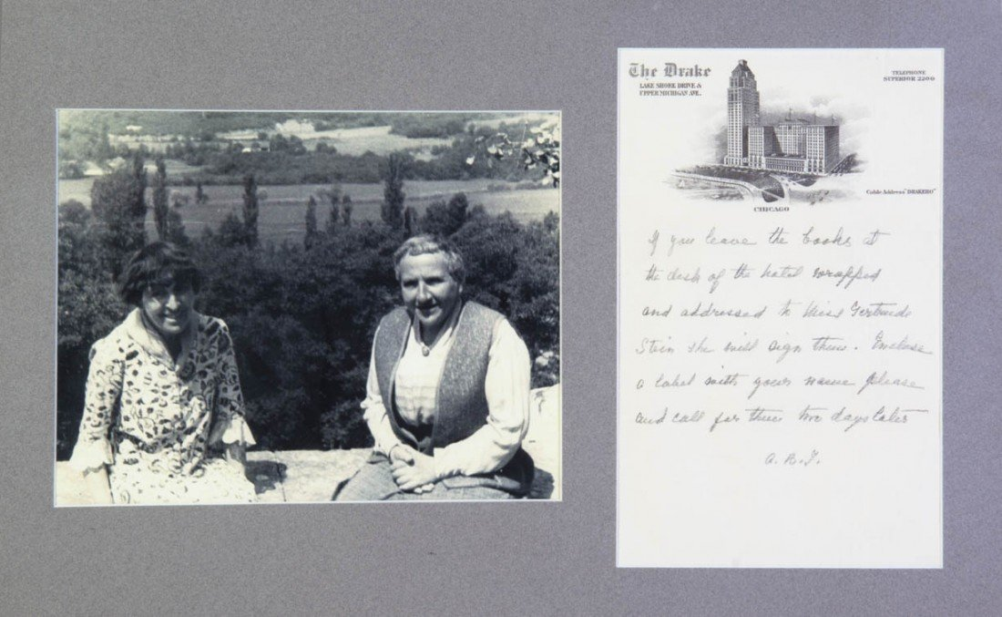 22: TOKLAS, ALICE B. Autographed letter signed, undated