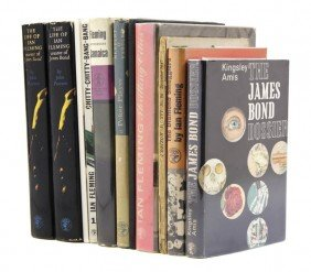 FLEMING, IAN. A Group Of 11 Books By, About, Or Wit