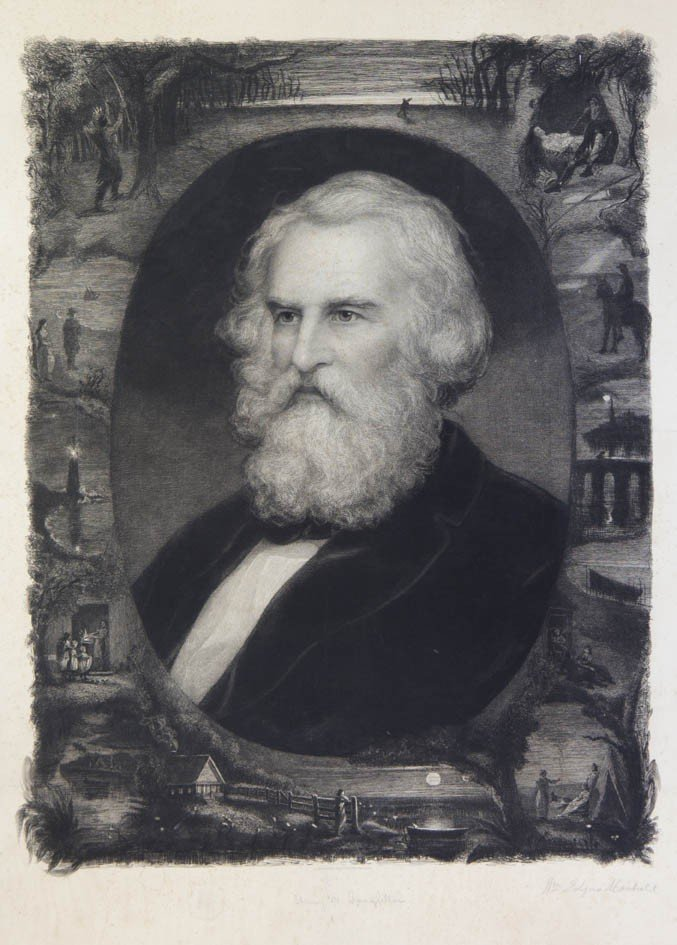 72: LONGFELLOW, HENRY WADSWORTH. Etching and engraving