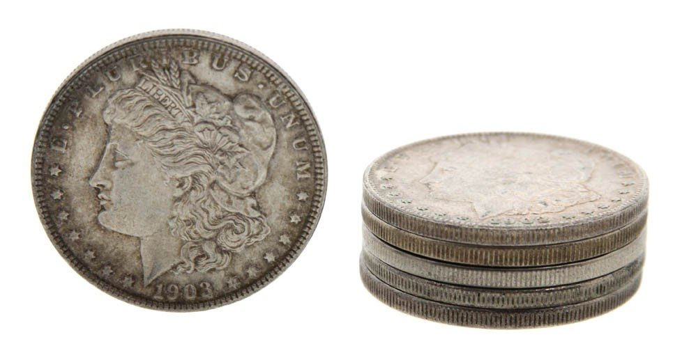 318: A Collection of Thirty U.S. Morgan Silver Dollars,