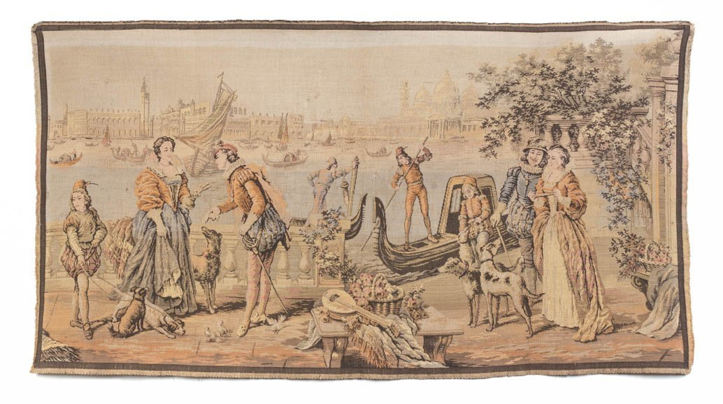 5: A Continental Wool Tapestry, Height 25 x width 46 in