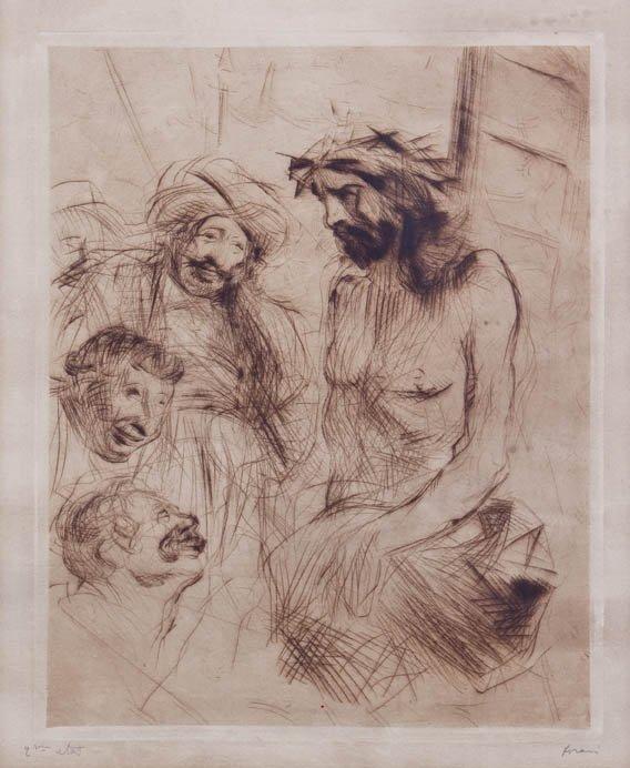 254: Jean-Louis Forain, (French 1852-1931), Le Christ A
