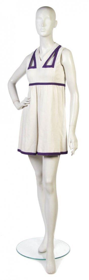 9: A Donald Brooks White Linen Dress,