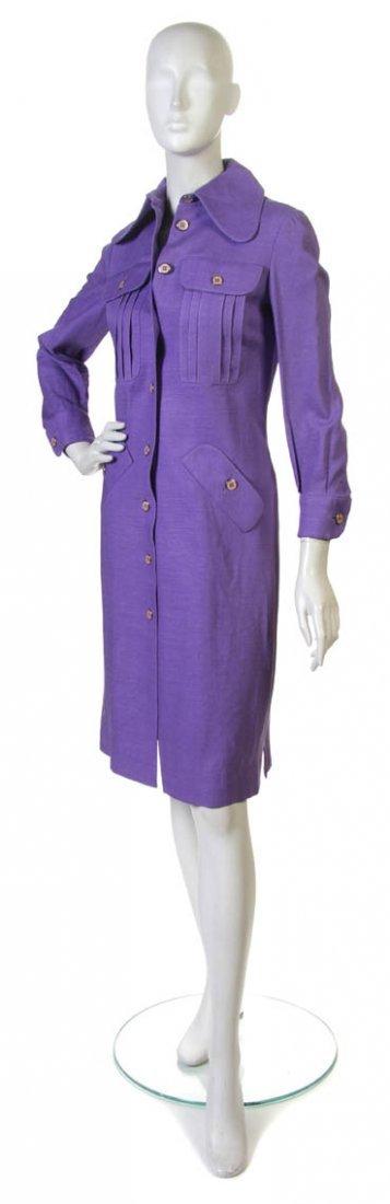 10: A Donald Brooks Purple Linen Day Dress.