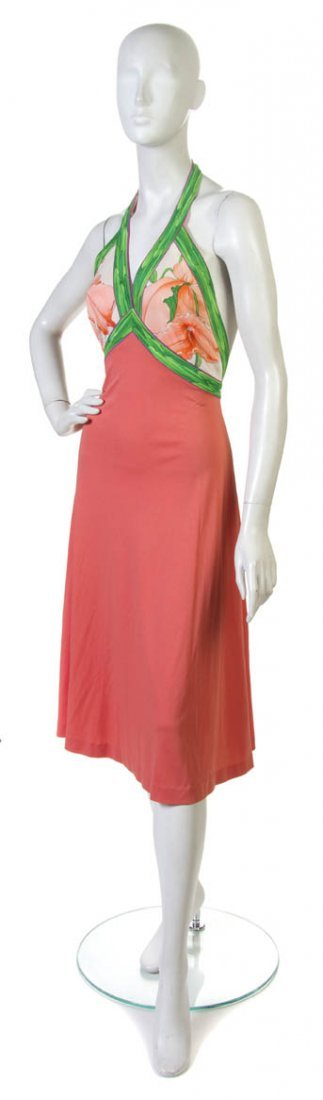 13: A Leonard Coral Halter Dress,