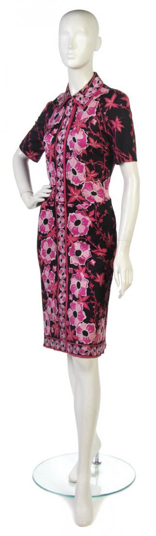 14: An Emilio Pucci Pink and Black Silk Day Dress.