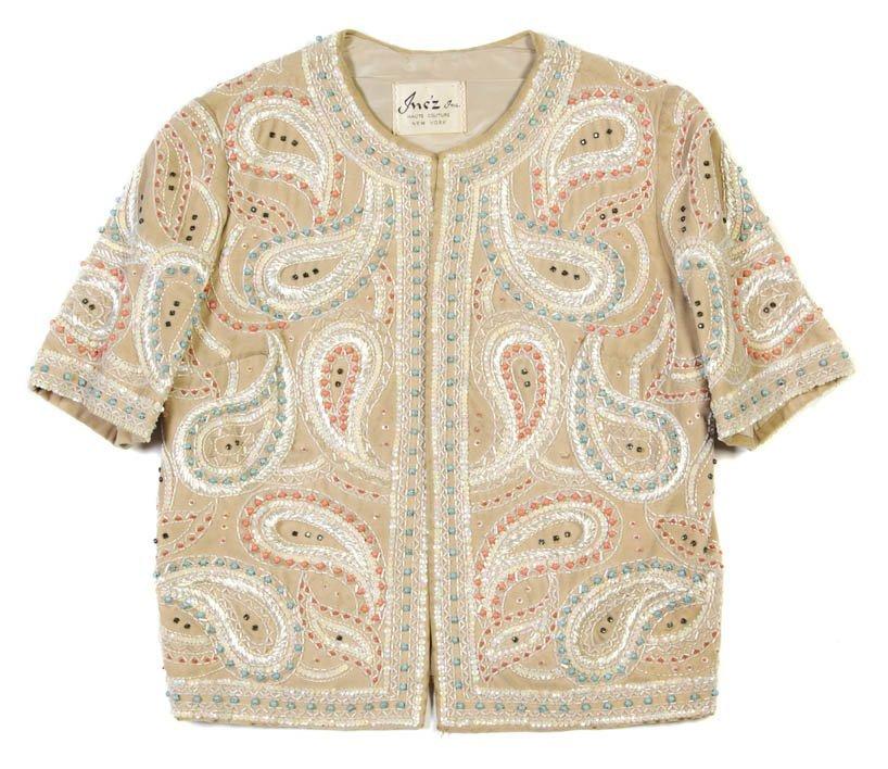 15: An Inez Tan Velvet Jacket,