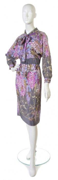 A Gucci Floral Silk Dress.