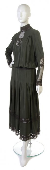 A Chloe Green Silk Dress,
