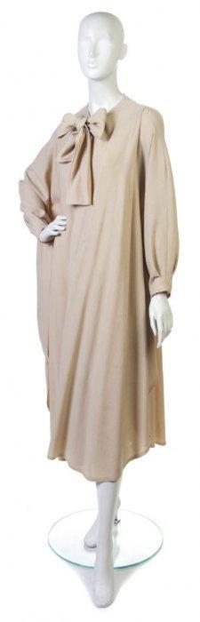 A Jean Muir Tan Wool Cape. Size 8.