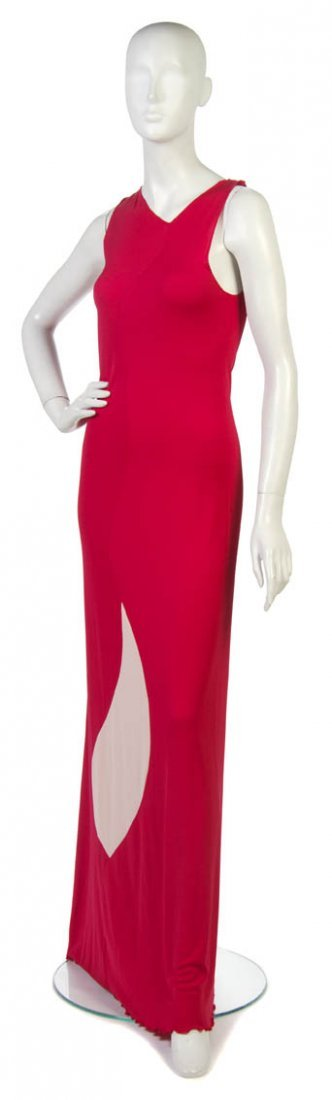 87: A Stephen Burrows Red Jersey Dress,