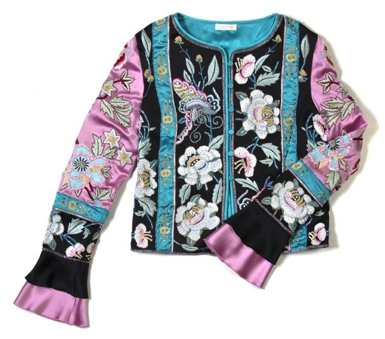 191: A Valentino Silk and Sequin Embroidered Jacket.