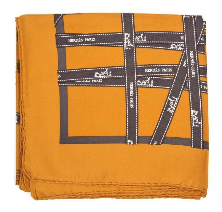 265: An Hermes Silk Scarf, 35 x 35 inches.