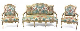 A Louis XV Style Giltwood Parlor Suite, Height Of Se