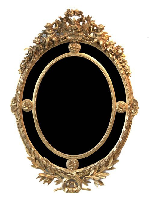 11: A French Giltwood Mirror, Height 57 5/8 inches.