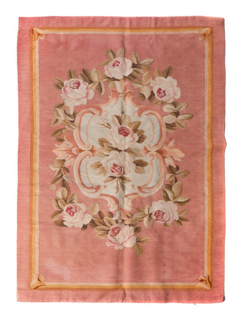 13: An Aubusson Wool Panel, 4 feet 7 1/2 inches x 3 fee