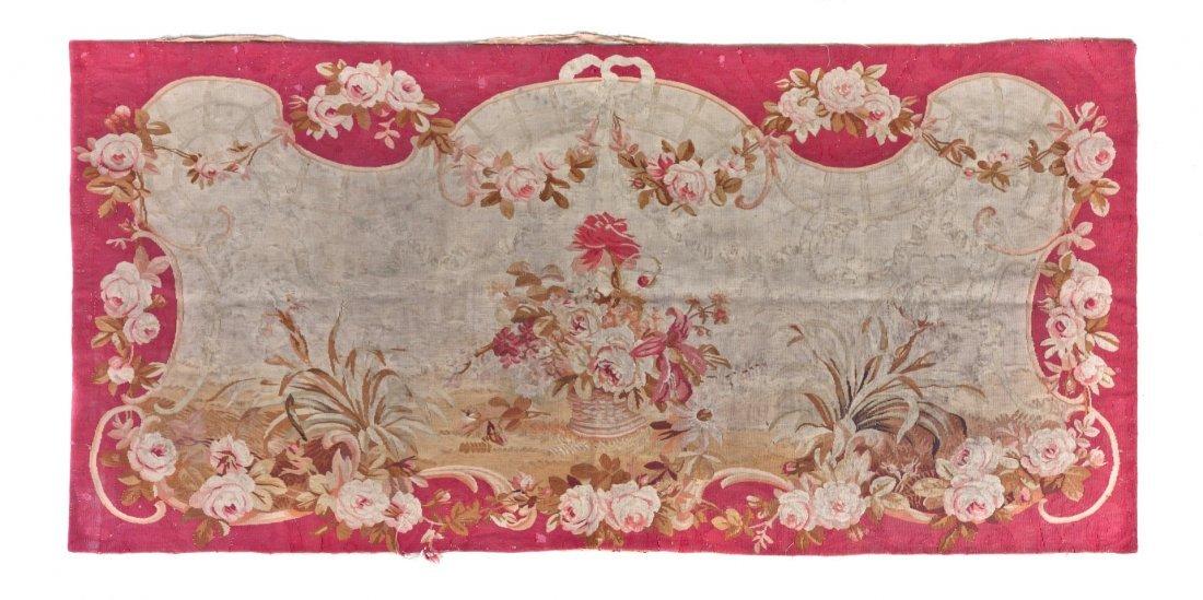 14: An Aubusson Wool Panel, 6 feet 2 inches x 2 feet 11